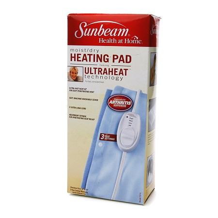 Sunbeam Moist/Dry Heating Pad, Model 731-5 1.0 ea(pack of 4)