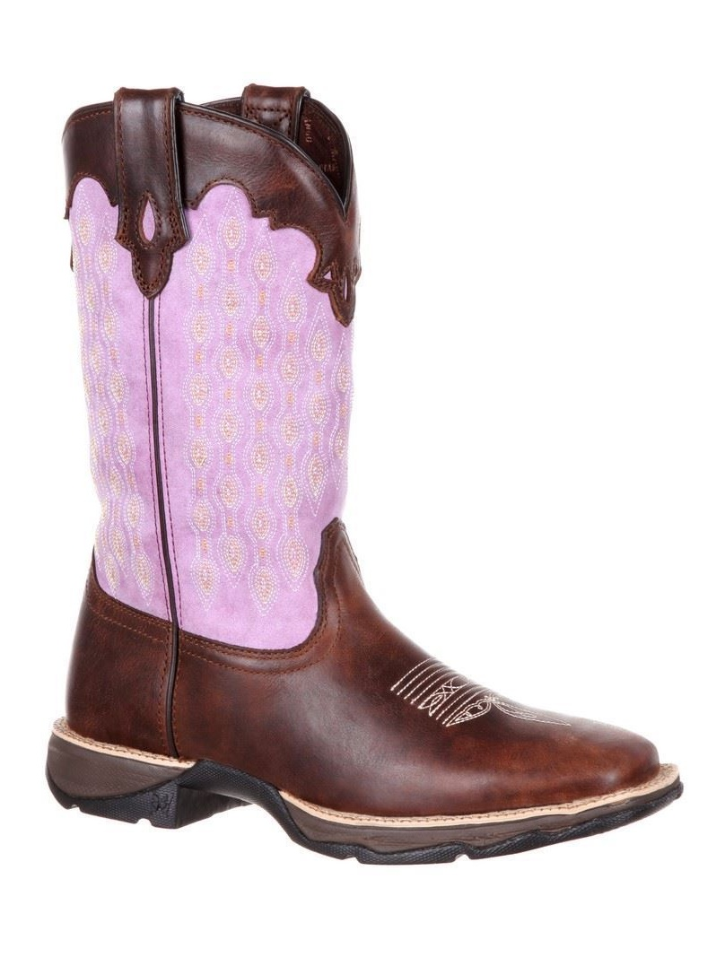 "Durango DRD0196 Womens Brown 11"" Square Toe Western Boots 10M by Durango"