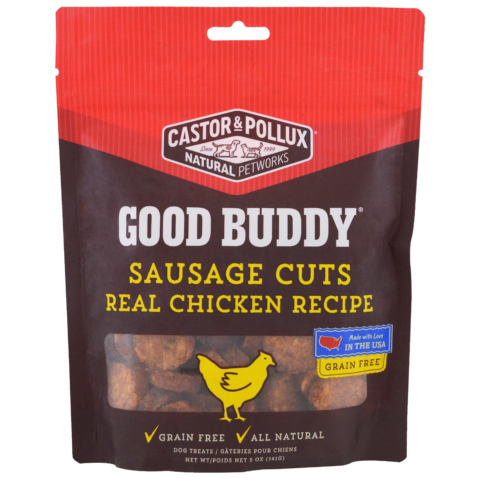 Castor & Pollux, Good Buddy, Sausage Cuts, Real Chicken Recipe, 5 oz (pack of 2)
