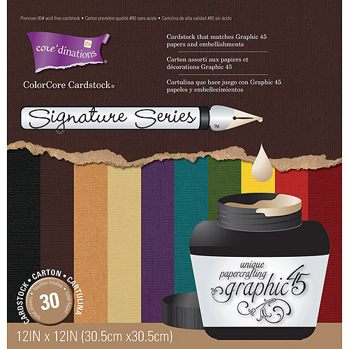 """Core'dinations Graphic 45 Cardstock pack, 12"""" x 12"""""""