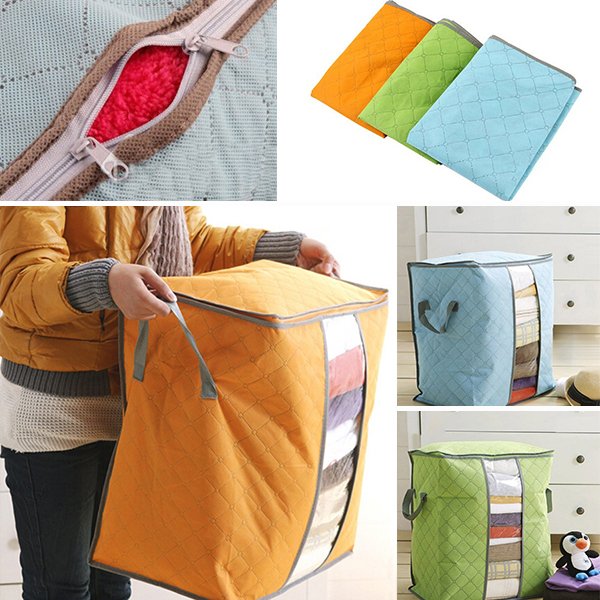 Portable Organizer Pouch Holder Blanket Pillow Underbed popular cool Storage Bag Box