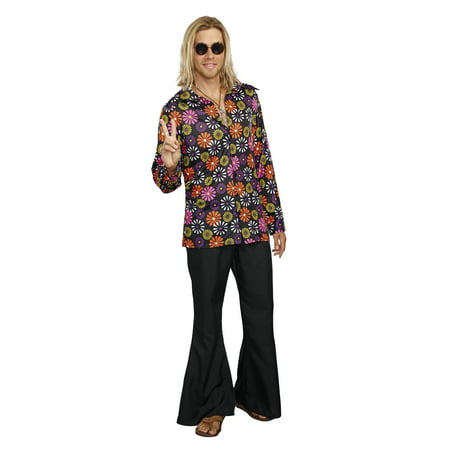 Dreamgirl Men's Groovy Baby! 60's Themed Costume Shirt - 60's Clothes Men