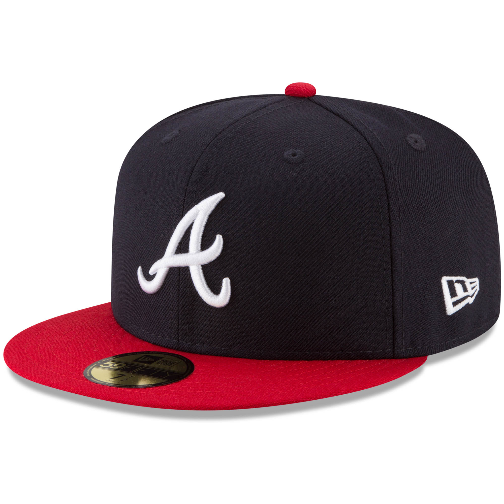 Atlanta Braves New Era Cooperstown Collection 1995 World Series Side Patch 59FIFTY Fitted Hat - Navy/Red