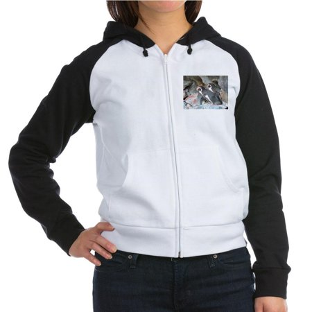 CafePress - Penguin Party Sweatshirt - Women's Raglan Hoodie - Penguin Hoodie