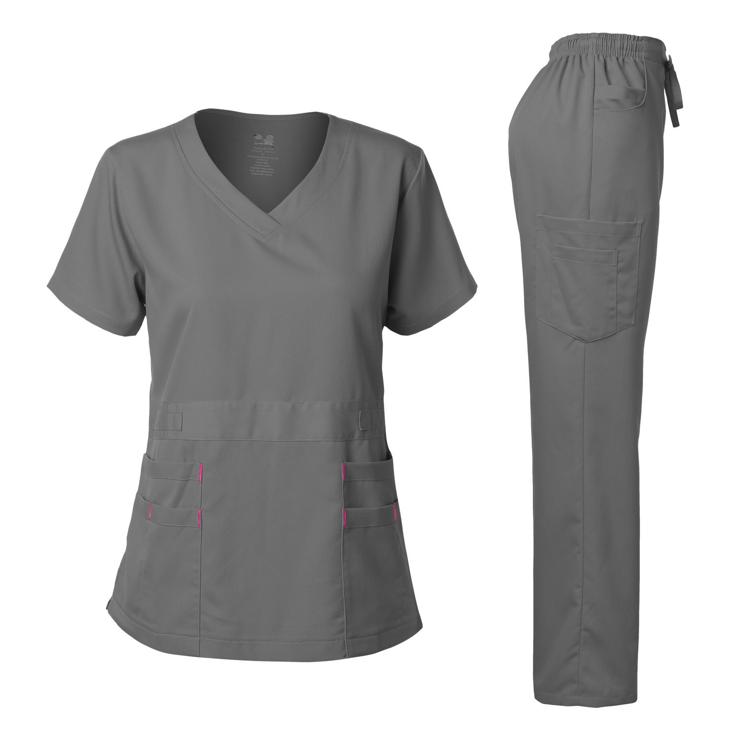 Dagacci Medical Uniform Women S Scrubs Set Stretch Ultra