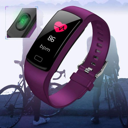 Fitness Tracker with Heart Rate Monitor Blood Pressure Smart Bracelet Color Display Sports Watch Pedometer Step Calorie for Women Men Kids - image 3 of 9