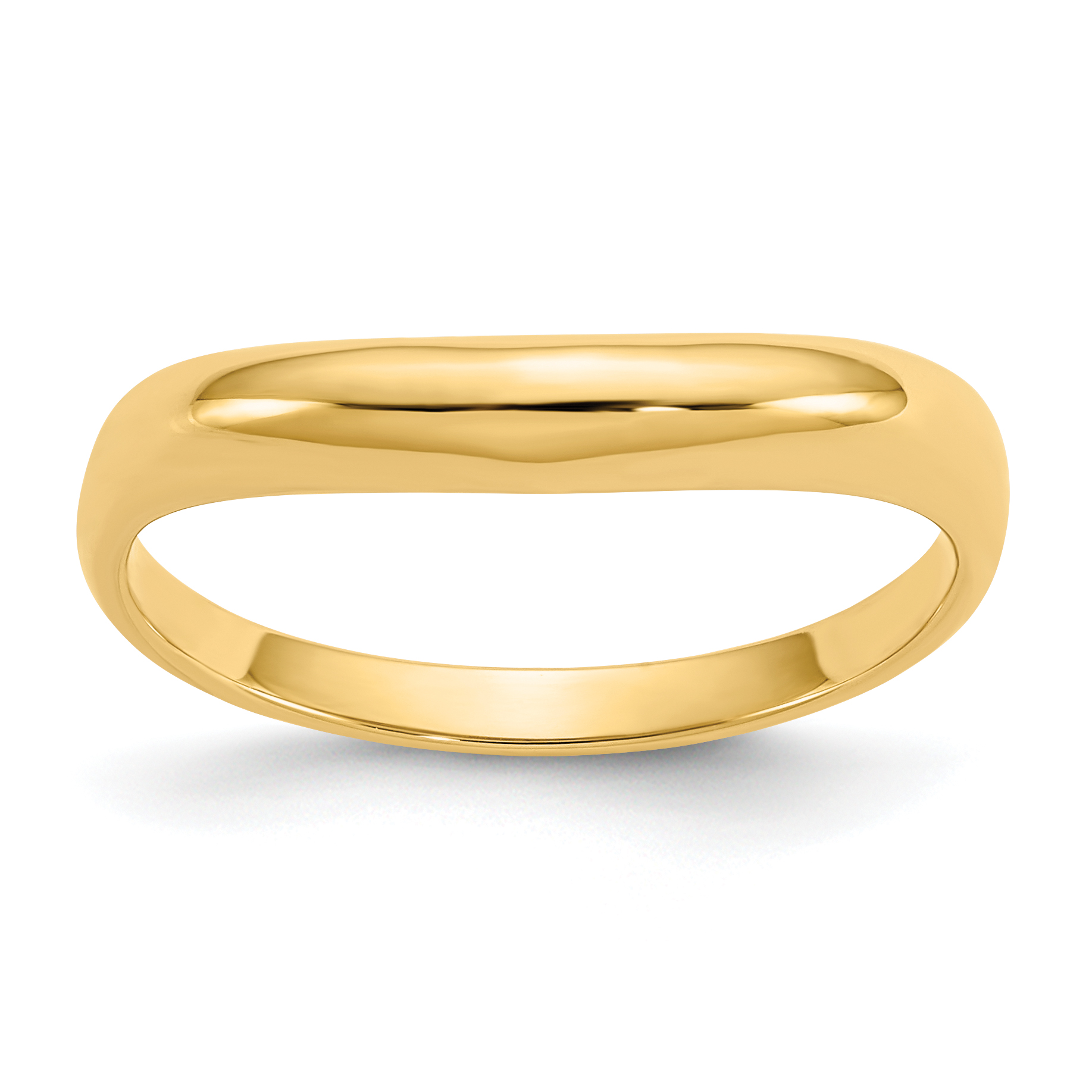 Roy Rose Jewelry 14K Yellow Gold Polished Stackable Wave Ring ~ Size 6.75