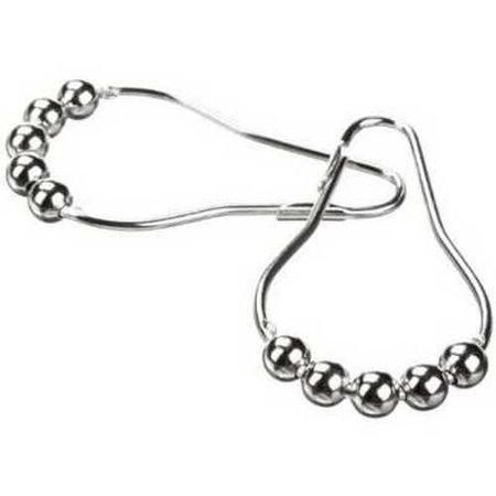Heavy Duty Roller Shower Curtain Rings, Clipperton Company NP01-SS RollerRings ,Fit Standard Diameter Shower Rods, Set of 12, Po Standard Duty Roller Cabinet