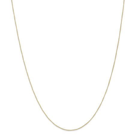 10k Yellow Gold .5 Mm Link Curb Necklace Chain Pendant Charm Carded Gifts For Women For Her