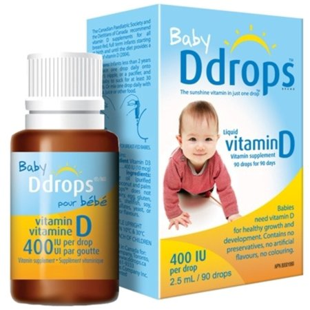 Natural vitamin d drops for infants