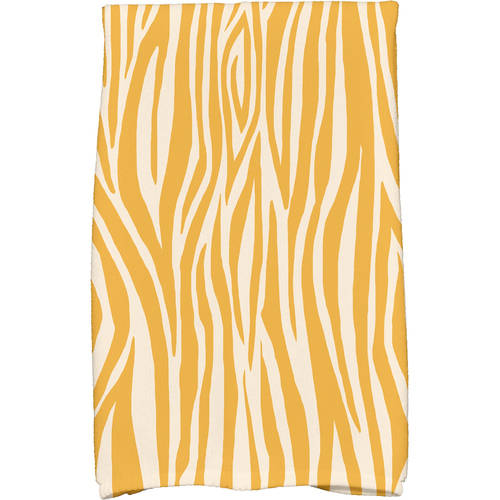 "Simply Daisy 16"" x 25"" Wood Stripe Geometric Print Kitchen Towel by E By Design"
