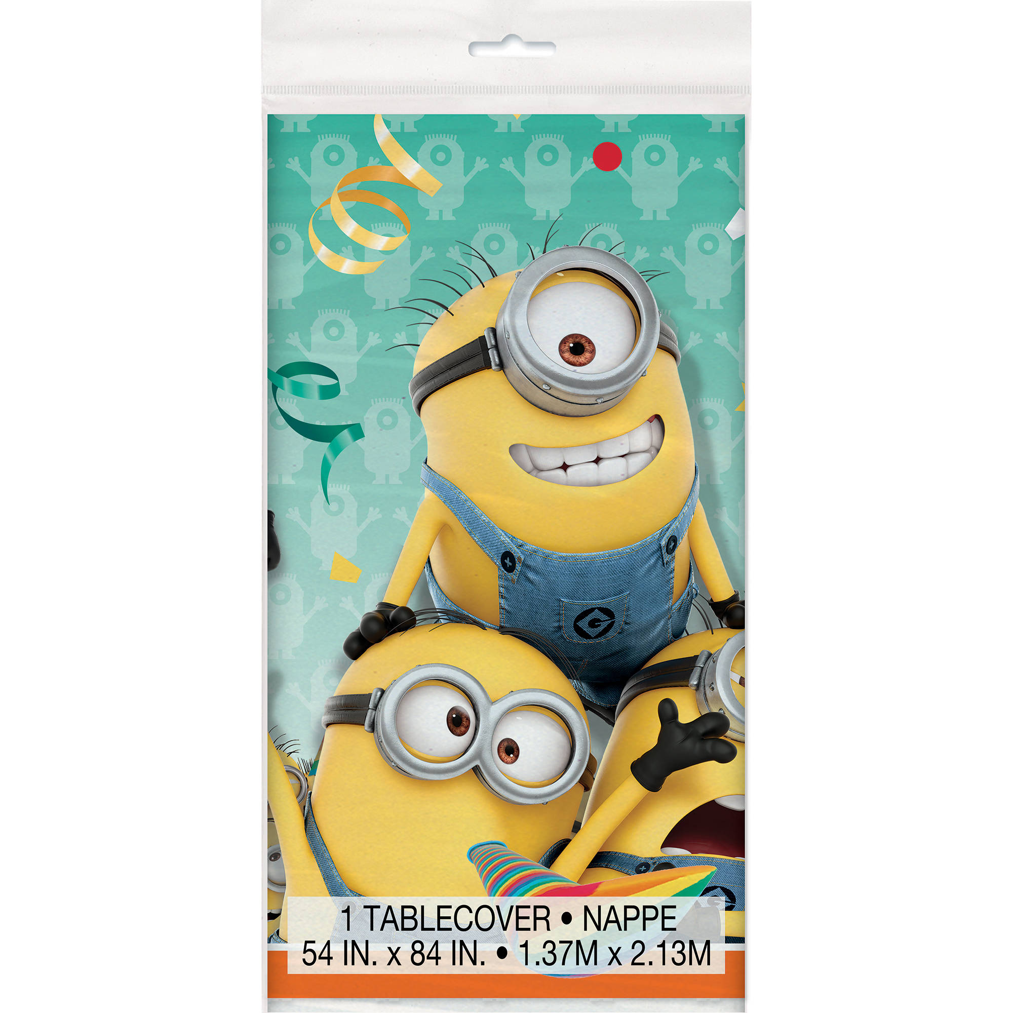 "Plastic Despicable Me Minions Table Cover, 84"" x 54"""
