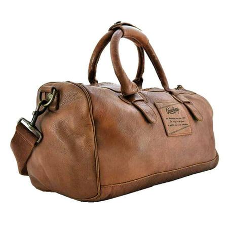 Rawlings Baseball Red Label Leather Duffle Bag 19 Inch Glove Brown Aj218