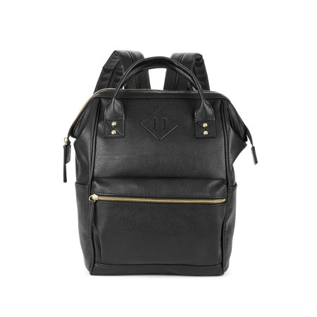No Boundaries Black PVC Frame Backpack