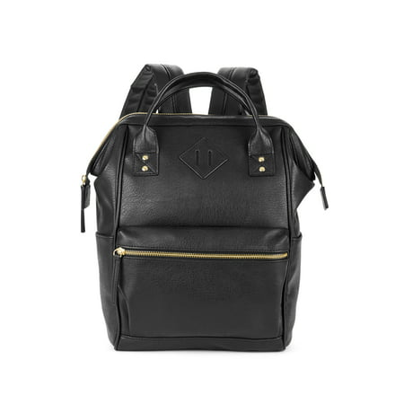 No Boundaries Black PVC Frame Backpack - External Internal Frame Backpacks
