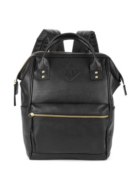 No Boundaries Black PVC Frame Backpack