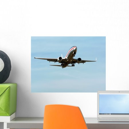 Commercial Jet Flight 2 Wall Mural by Wallmonkeys Peel and Stick Graphic (18 in W x 14 in H) (Jet 2 Flights)