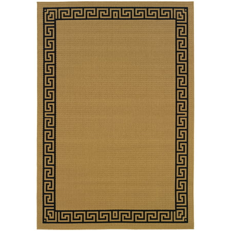 Avalon Home Lindos Greek Key Border Indoor/Outdoor Area Rug ()
