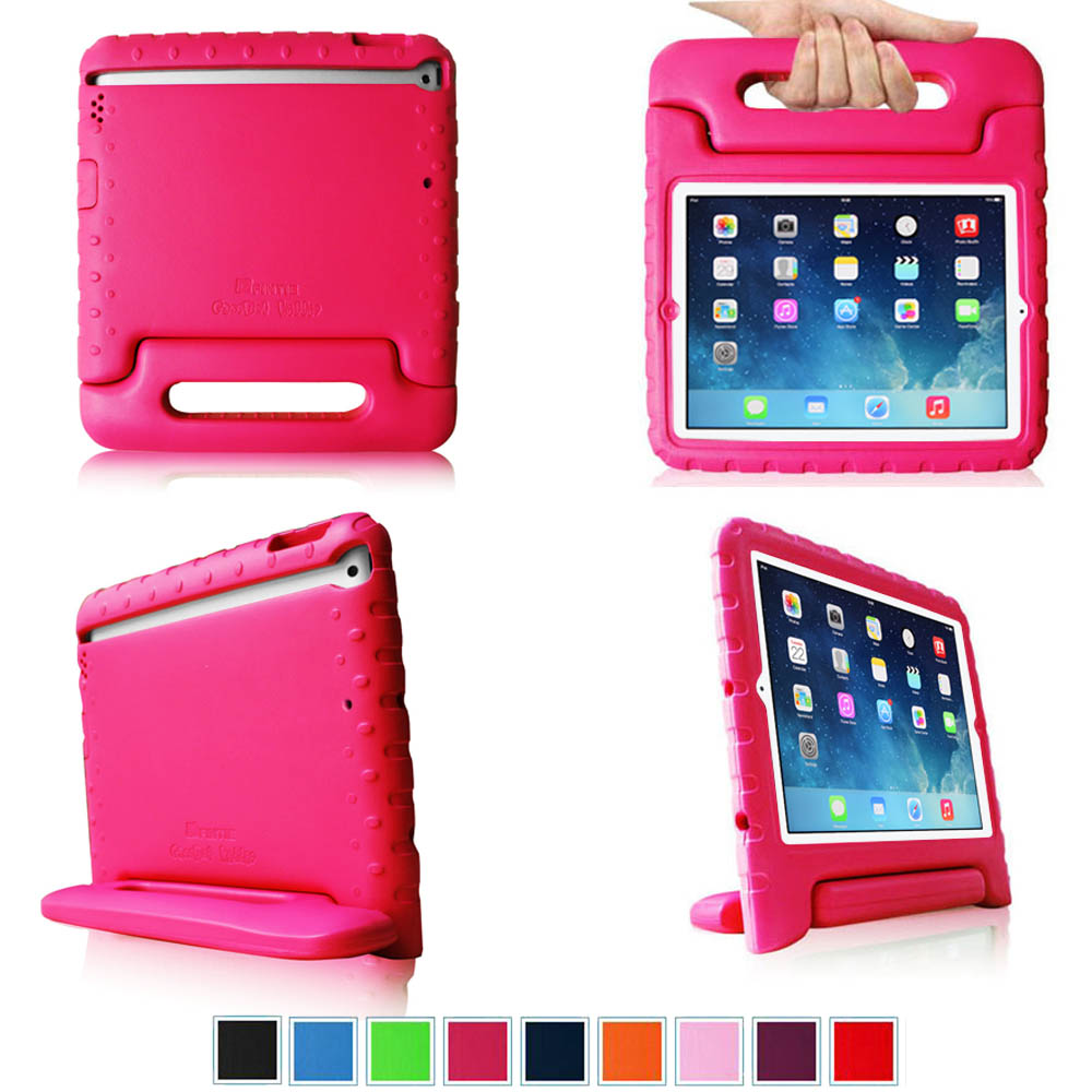 Fintie iPad Air Kiddie Case - Lightweight Shockproof with Convertible Handle Stand Kids Friendly Cover, Magenta