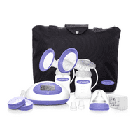 Lansinoh Signature Pro Portable Double Electric Breast Pump with LCD Screen and Adjustable Suction & Pumping Levels