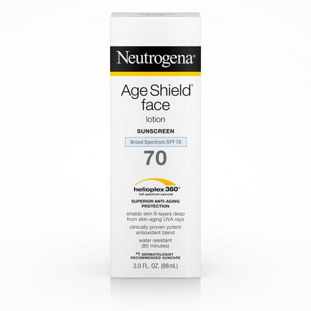 Neutrogena Age Shield Anti-Oxidant Face Sunscreen SPF 70, 3 fl.
