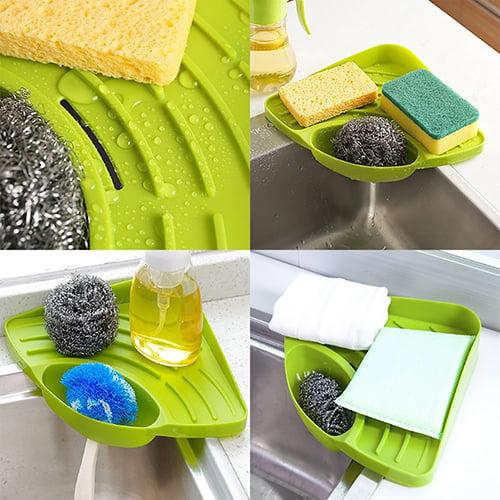 Moderna Kitchen Triangle Shelf Sink Dish Drain Rack Bathroom Soap Sponge Holder Storage