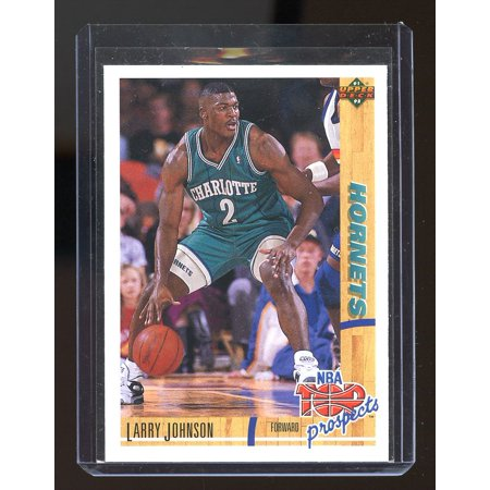 1991-92 Upper Deck TP #445 Larry Johnson Charlotte Hornets Rookie