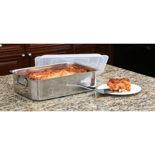 Cook Pro 4-Piece Stainless Steel Roaster/Lasagna Pan