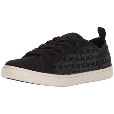 Koolaburra by UGG Girls' K Kellen Low LACE Denim Sneaker, Black, 4 Medium US Big Kid (Big Kid Uggs On Sale)