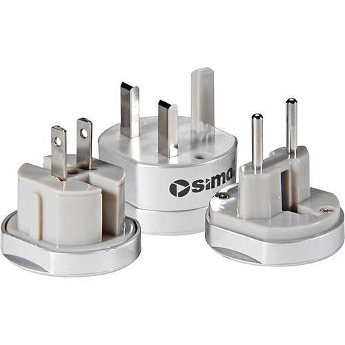 Sima International Travel Adapter Plug Set