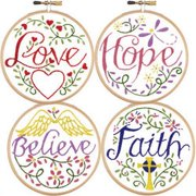 Herrschners® Inspirational Words Mini Picture Stamped Embroidery Kit