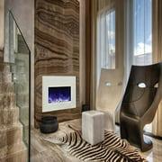 Amantii Medium Insert Electric Fireplace with Black Glass Surround