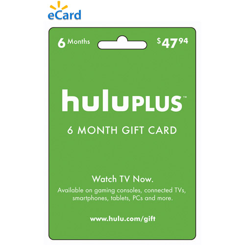 (Email Delivery) Hulu 6 Month eCard