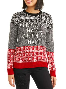 juniors sleigh my name holidy christmas sweater - Misfits Christmas Sweater