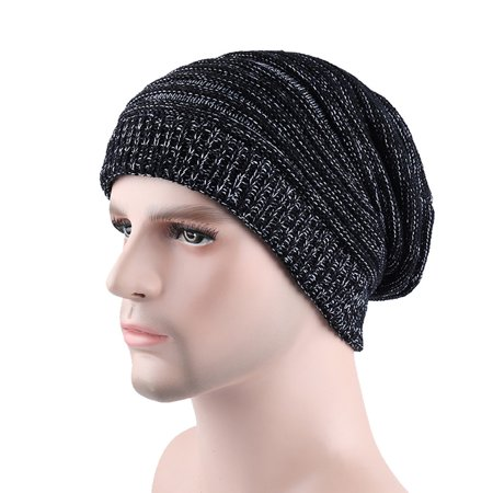 5d2c56591bc Hot Sale Fashion Men Casual Winter Warming Crochet Wool Knitted Hemming Hats  Caps Solid Color Beanie Slouchy Skull Caps Hats - Walmart.com