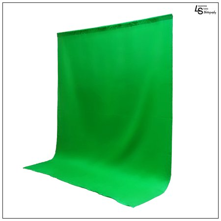 (10 x 12' ft. Chroma Key Green Screen Seamless Muslin Fabric Cloth Backdrop for Photography and Video by Loadstone Studio WMLS0360)