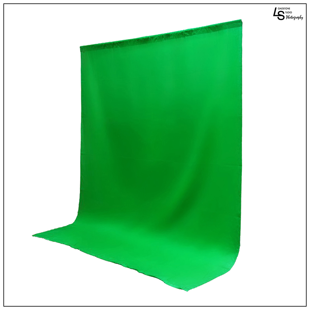 10 x 12' ft. Chroma Key Green Screen Seamless Muslin Fabric Cloth Backdrop for Photography and Video by Loadstone Studio WMLS0360