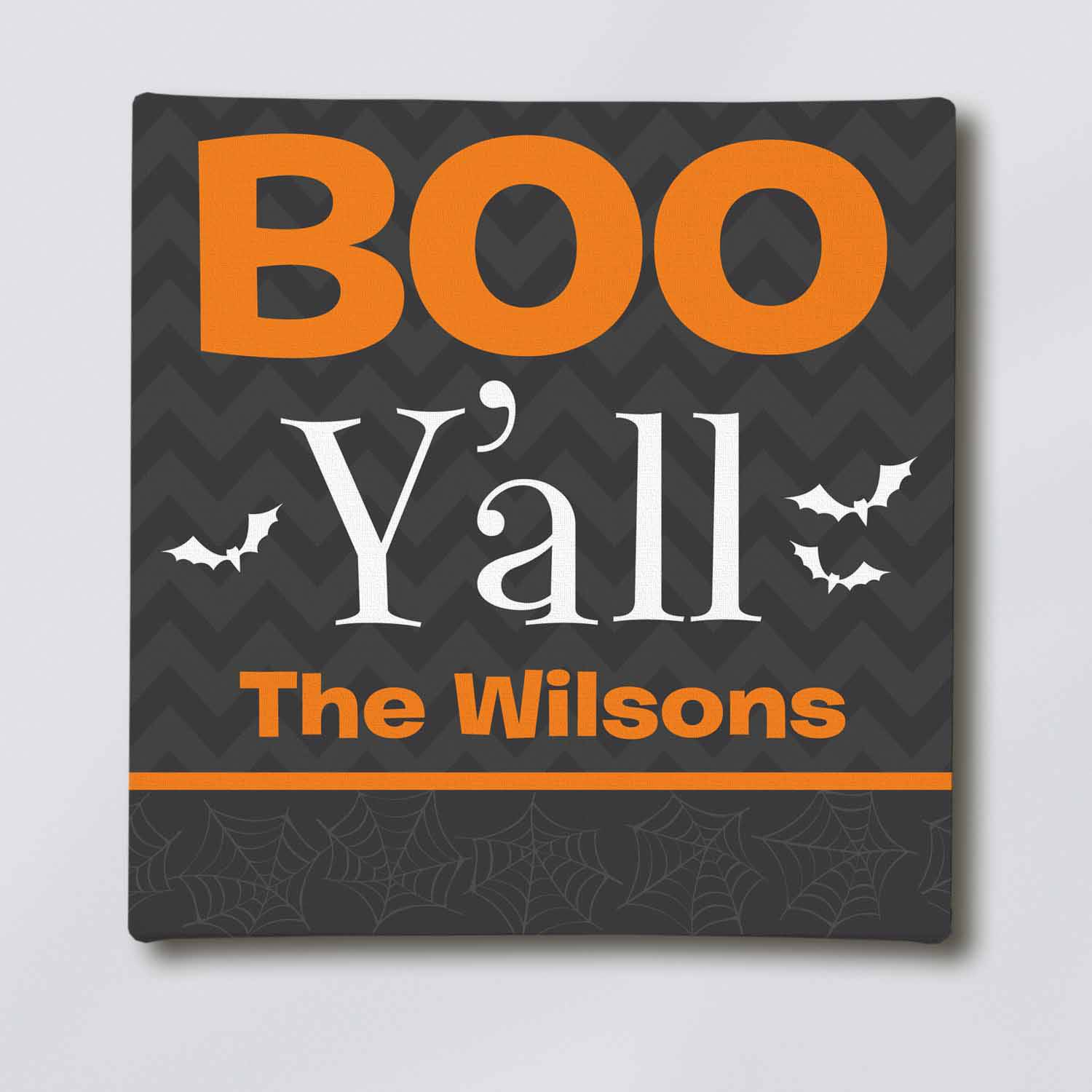 Personalized Boo Y'All Canvas