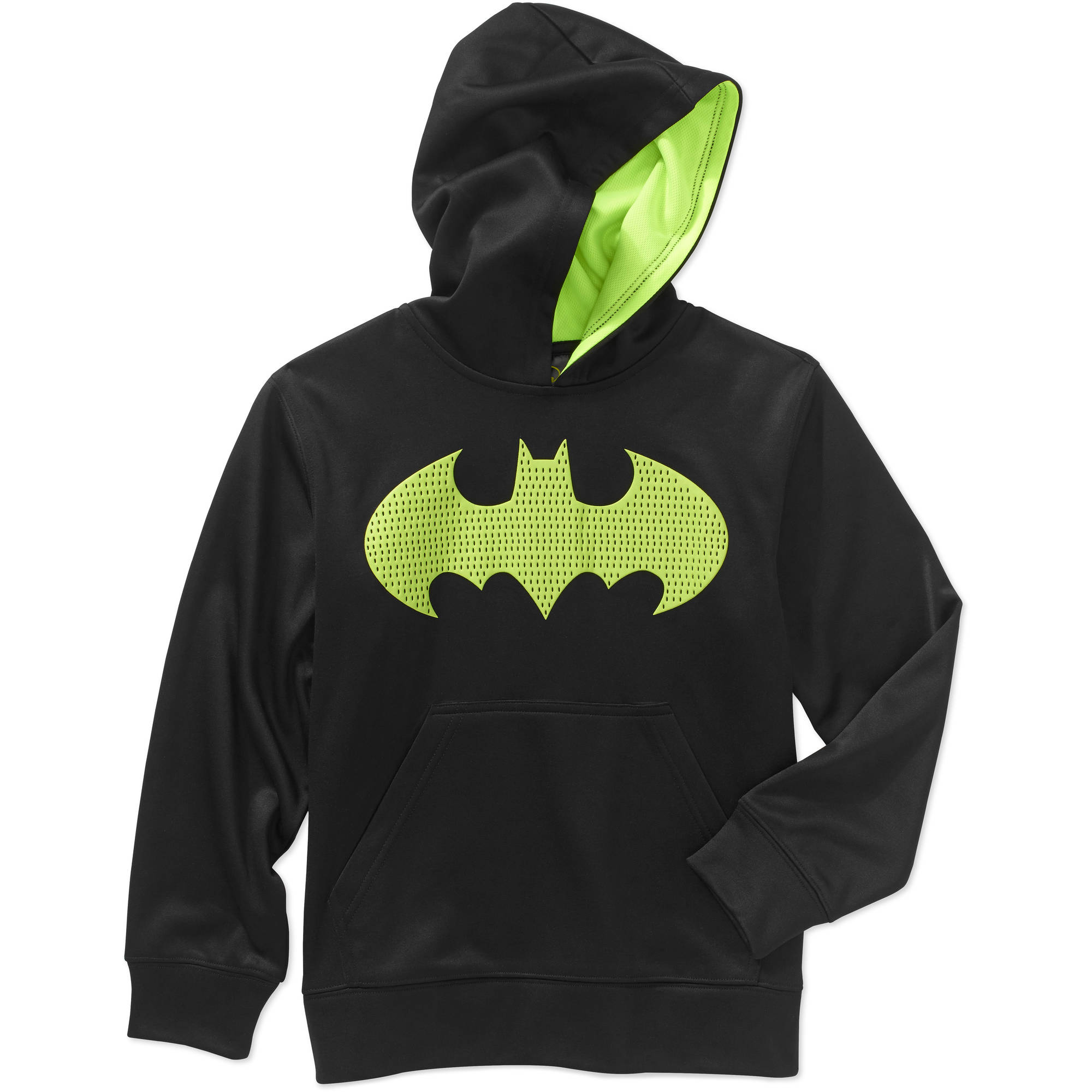 DC Comics Boys' Batman Solid Poly Fleece Hoodie