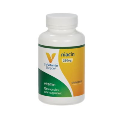 - The Vitamin Shoppe Niacin 250MG, Supports Cholesterol Levels Already Within The Normal Range, Once Daily (100 Capsules)