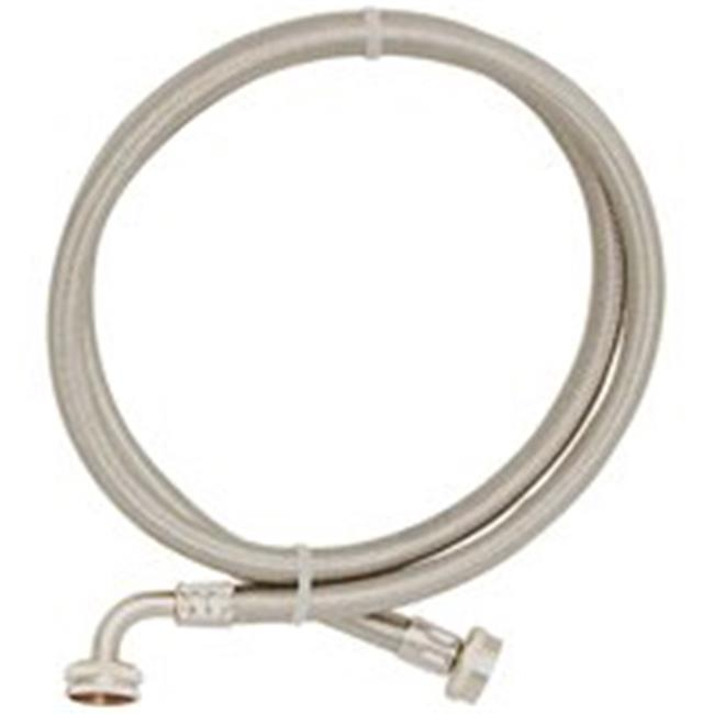 Eastman 48377 5 Ft. Stainless Steel Washing Machine Hose 90 Degree Elbow