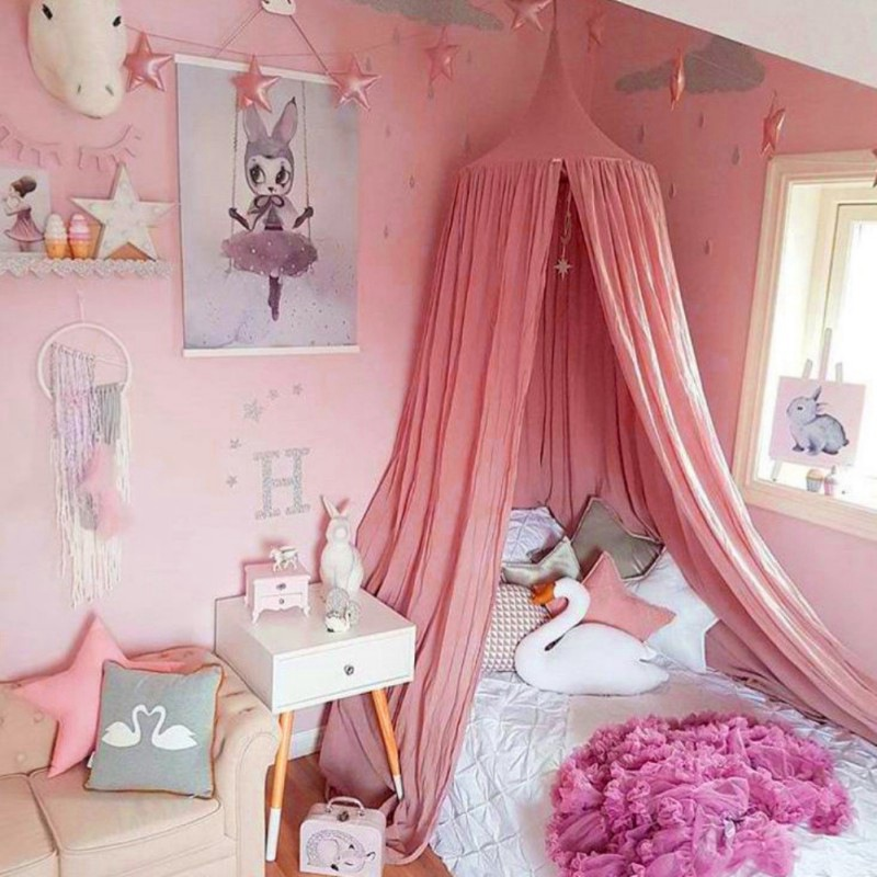 Tommyfit Baby Princess Bedding Round Dome Mosquito Net Curtain Room Decor