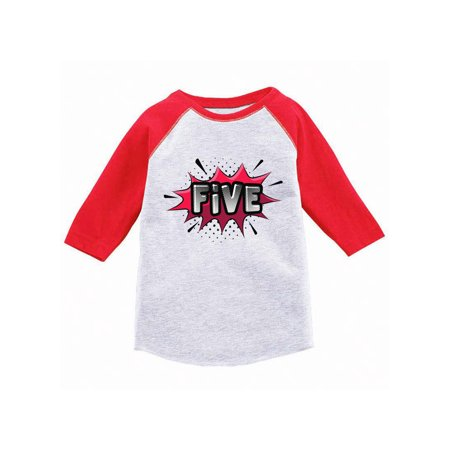 Awkward Styles 5th Birthday Raglan Shirt Boy Gift For 5 Year Old Kids Girl Baseball Tee Youth