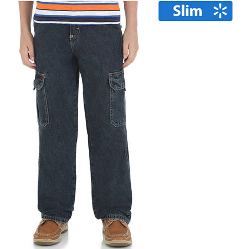 Wrangler Boys' Slim Classic Cargo Jean