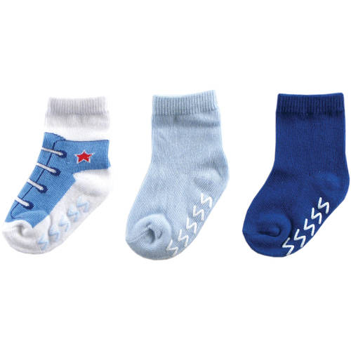 Luvable Friends Baby Boy and Girl Uni Non Skid Socks 3