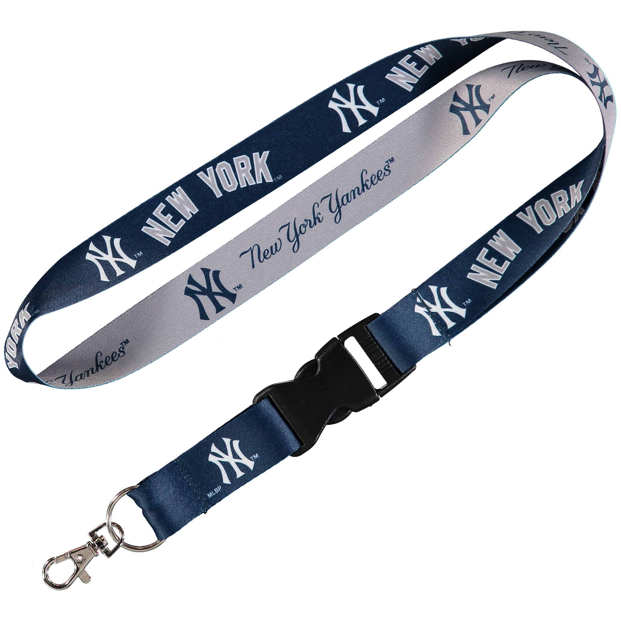 New York Yankees WinCraft Wordmark Lanyard with Detachable Buckle - No Size