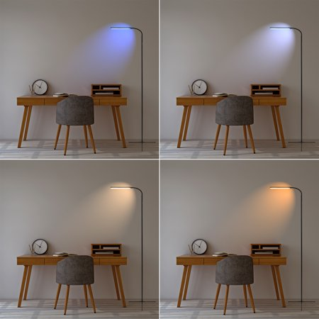 Best Choice Products Remote Control LED Floor Lamp with Sleep Timer, Dimming, 12 Brightness & 10 Color Options