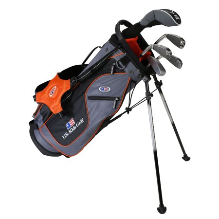 US Kids UL51 Ultralight 5-Club Golf Club Complete Set with Stand Bag, Grey/Orange Bag for 51-54