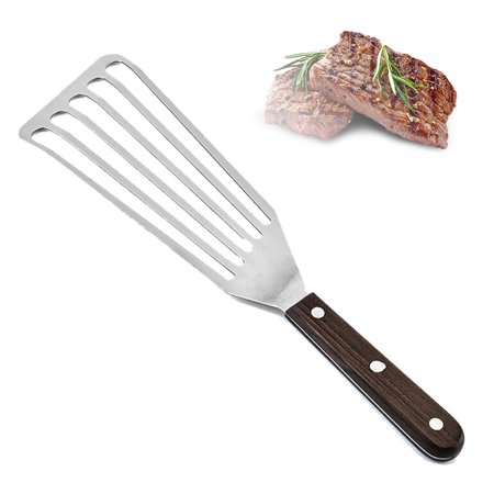 Stainless Steel Mail Slot Sleeve (CABINA HOME Stainless Steel Steak Shovel Flexible Slotted Turner Fish Barbecue Spatula )