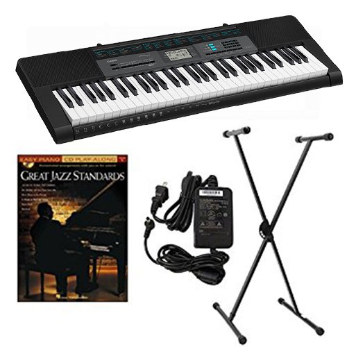 Casio CTK2550 Keyboard Package w Adapter, Stand & Great Jazz Standards Book by Keyboards Packs